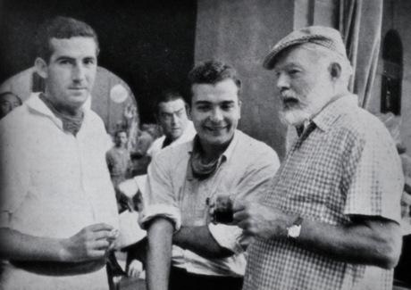 Hemingway en las fiestas de San Fermín, 1959.