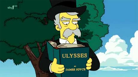 Hasta los Simpson estuvieron alguna vez en el Bloomsday.