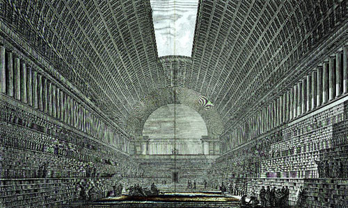 Boullée. Deuxieme projet pour la Bibliothèque du Roi (1785)