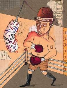 """Ilustración: """"J'étais triste d'être boxeur"""", Renaud Perrin"""