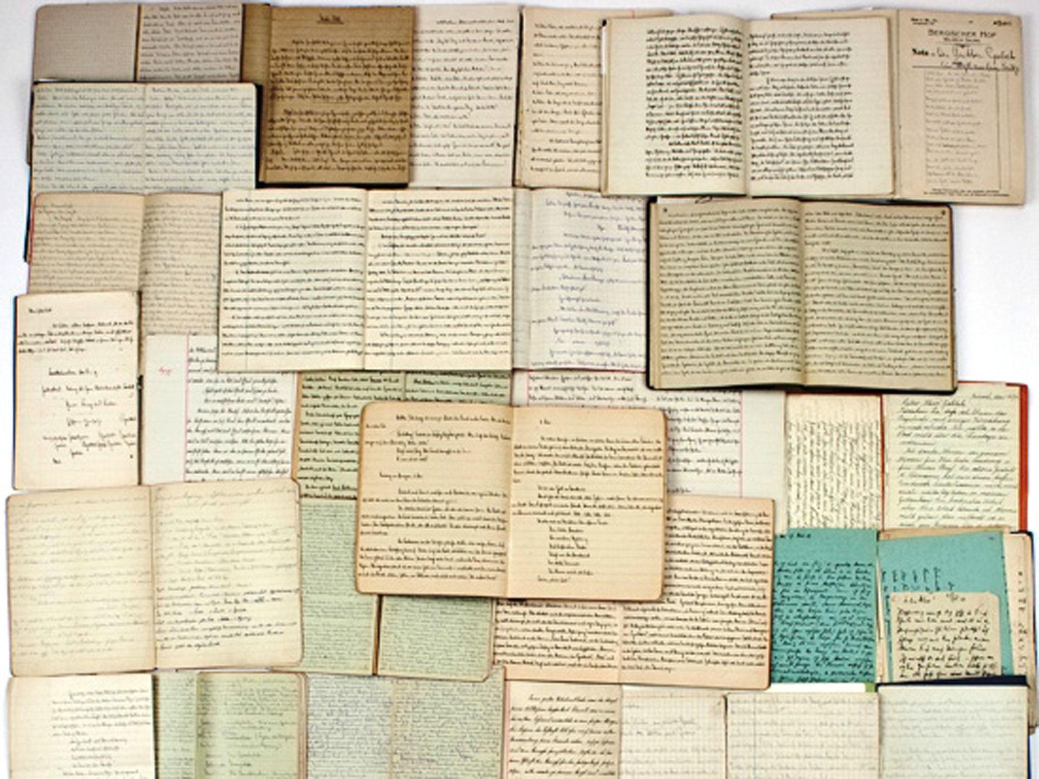 Los diarios de Goebbels. Foto: Alexander Autographs