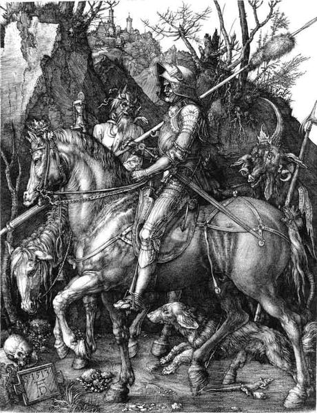 (Durero: Ritter, Tod und Teufel)
