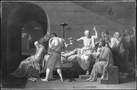 'La muerte de Sócrates' (1787), de Jacques-Louis David.