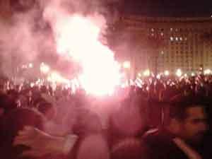25 de enero de 2011 en la Plaza Tahrir: un manifestante envió esta imagen desde su BlackBerry
