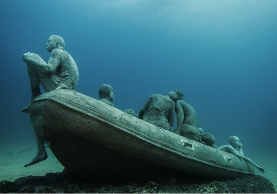 Jason deCaires Taylor: https://www.underwatersculpture.com/