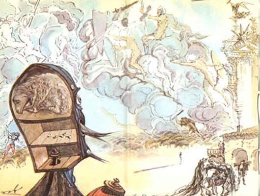 del Quijote ilustrado por Dalí.