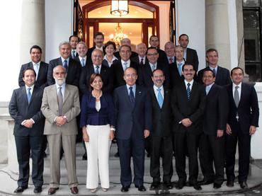 Reunión de panistas en Los Pinos el 3 de julio de 2012.