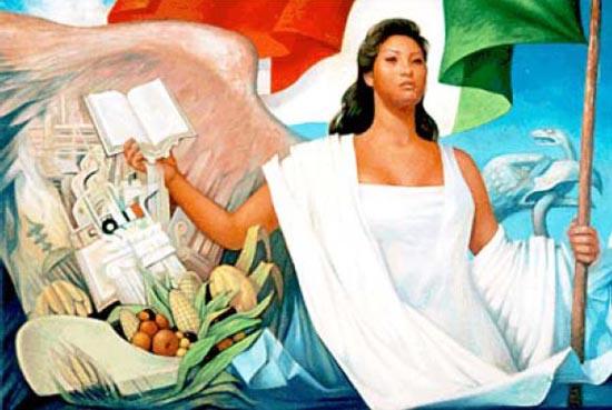 La patria, oleo sobre tela realizado por Jorge González Camarena (1962)