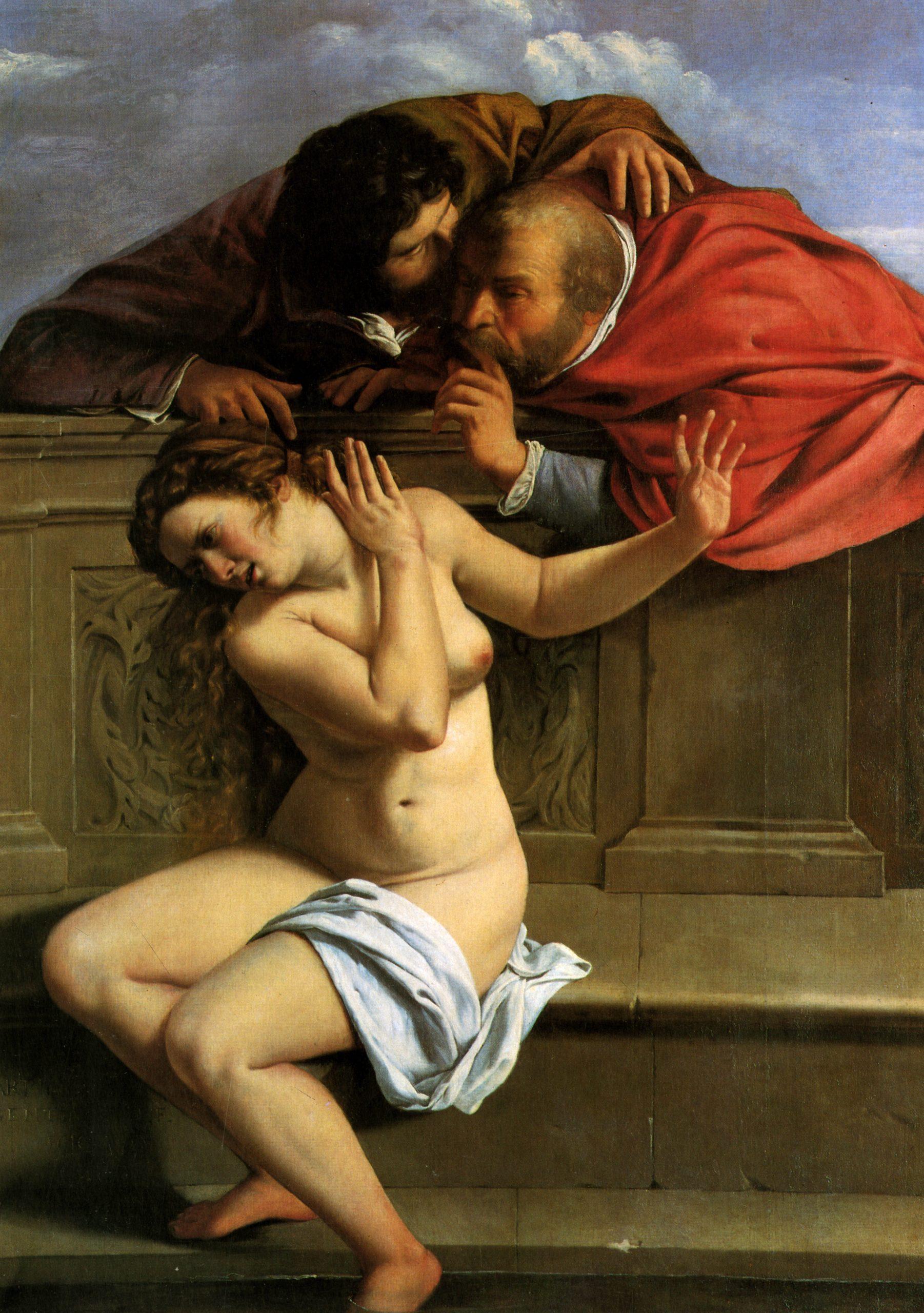 Susanna y los viejos, Artemisia Gentileschi, 1610