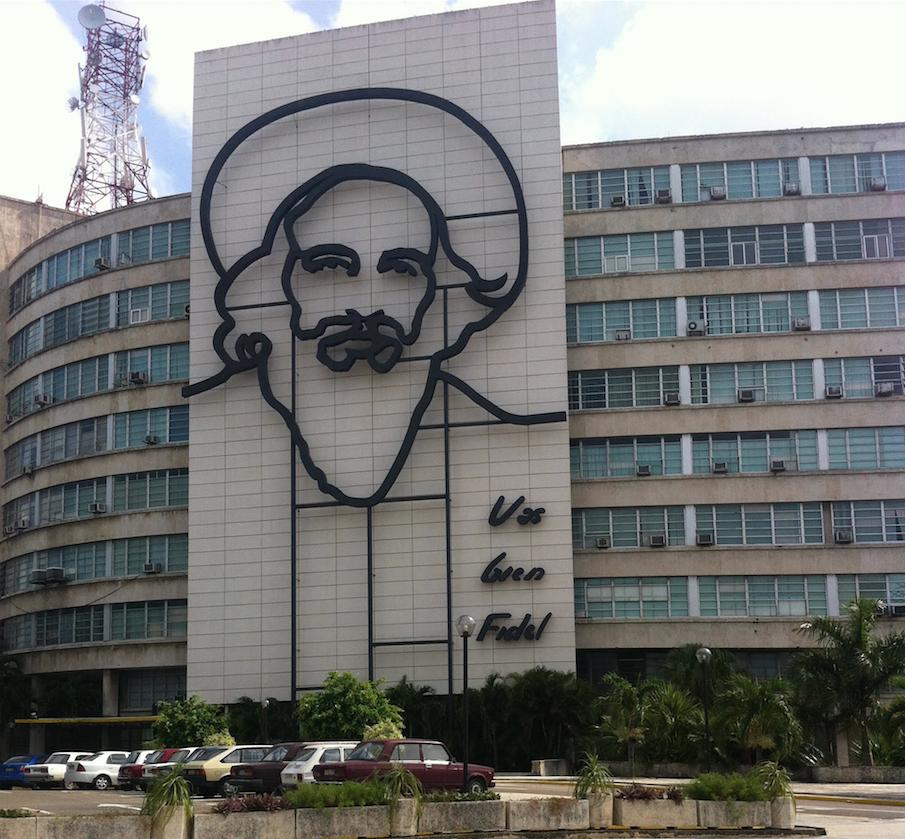 Camilo Cienfuegos, en la Plaza de la Revolución.